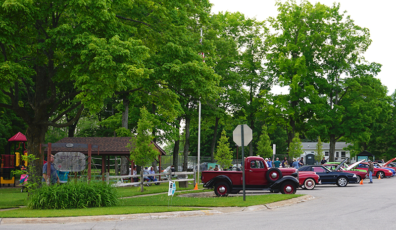 Car Night at Burnett Park in Lake Ann